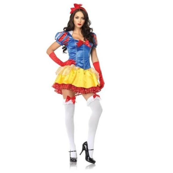 FINAL SALE Snow White Halloween 2 PC Costume SM ML Boutique